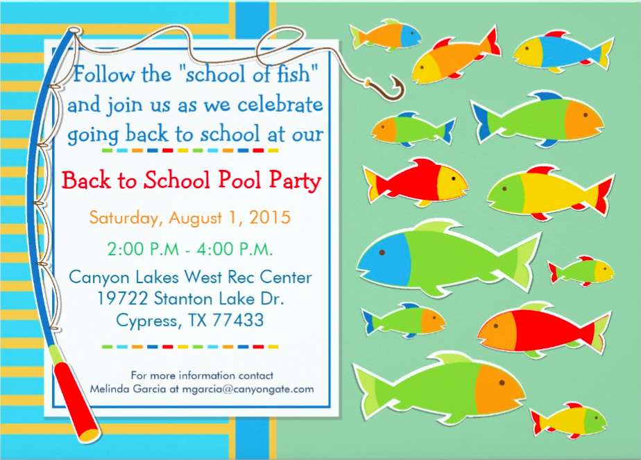 Back to School Pool Party at Miramesa