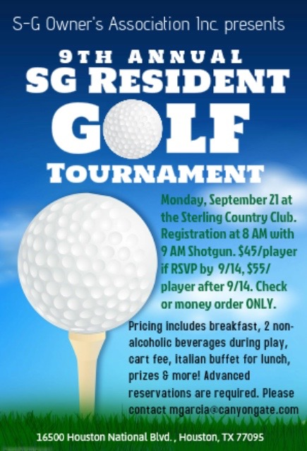 9th Annual SG Resident Golf at Miramesa